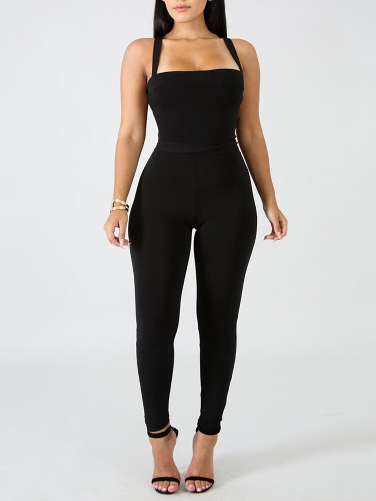 Backstrap Jumpsuit - Double Layered
