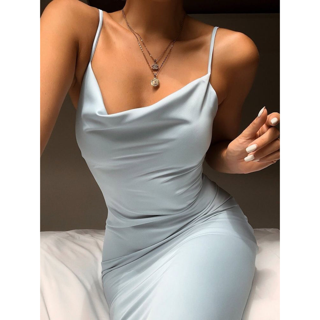 Dropping neck bodycon
