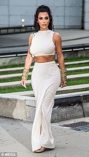 Kim's sexy maxi skirt and crop