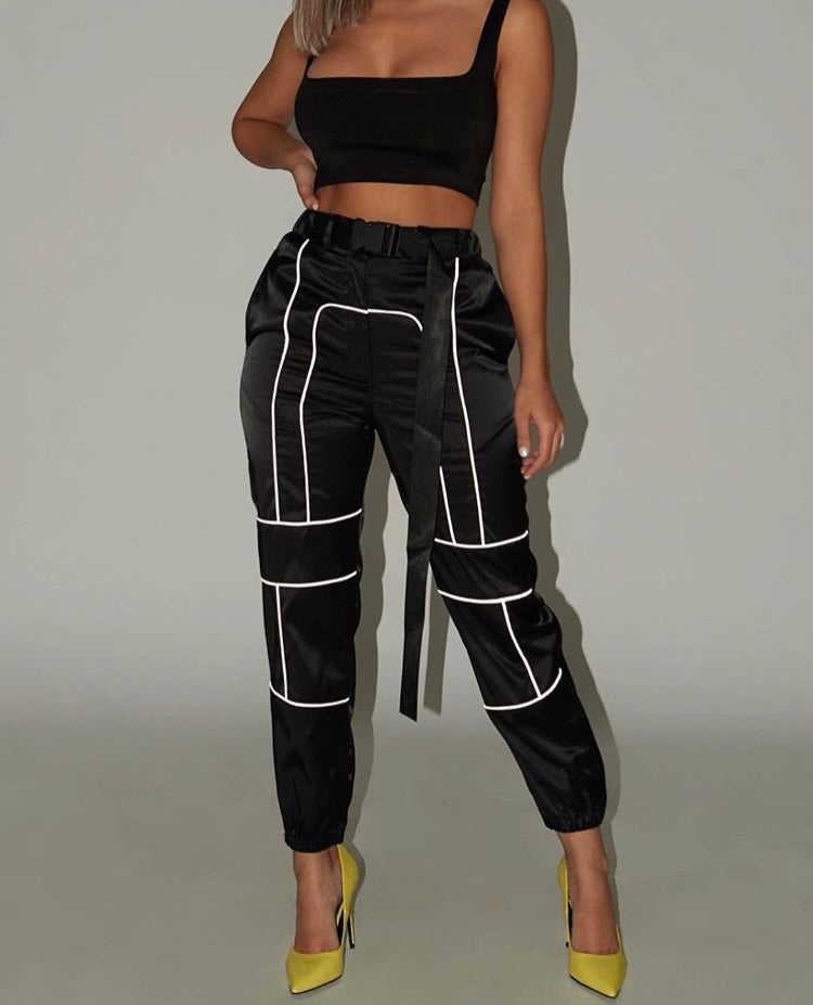 Custom cargo pants and crop set