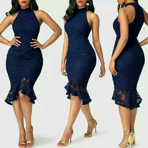 Lace bodycon office dress