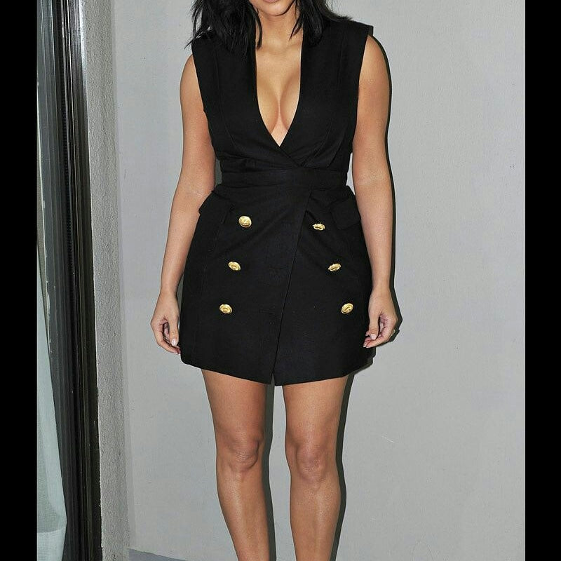Kim K inspired flare short custom dress