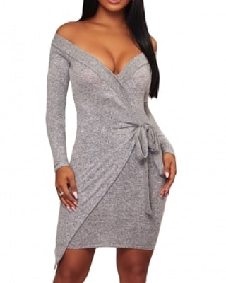 Knit Offshoulder bodycon dress