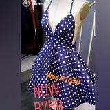 Polka dot custom made  top