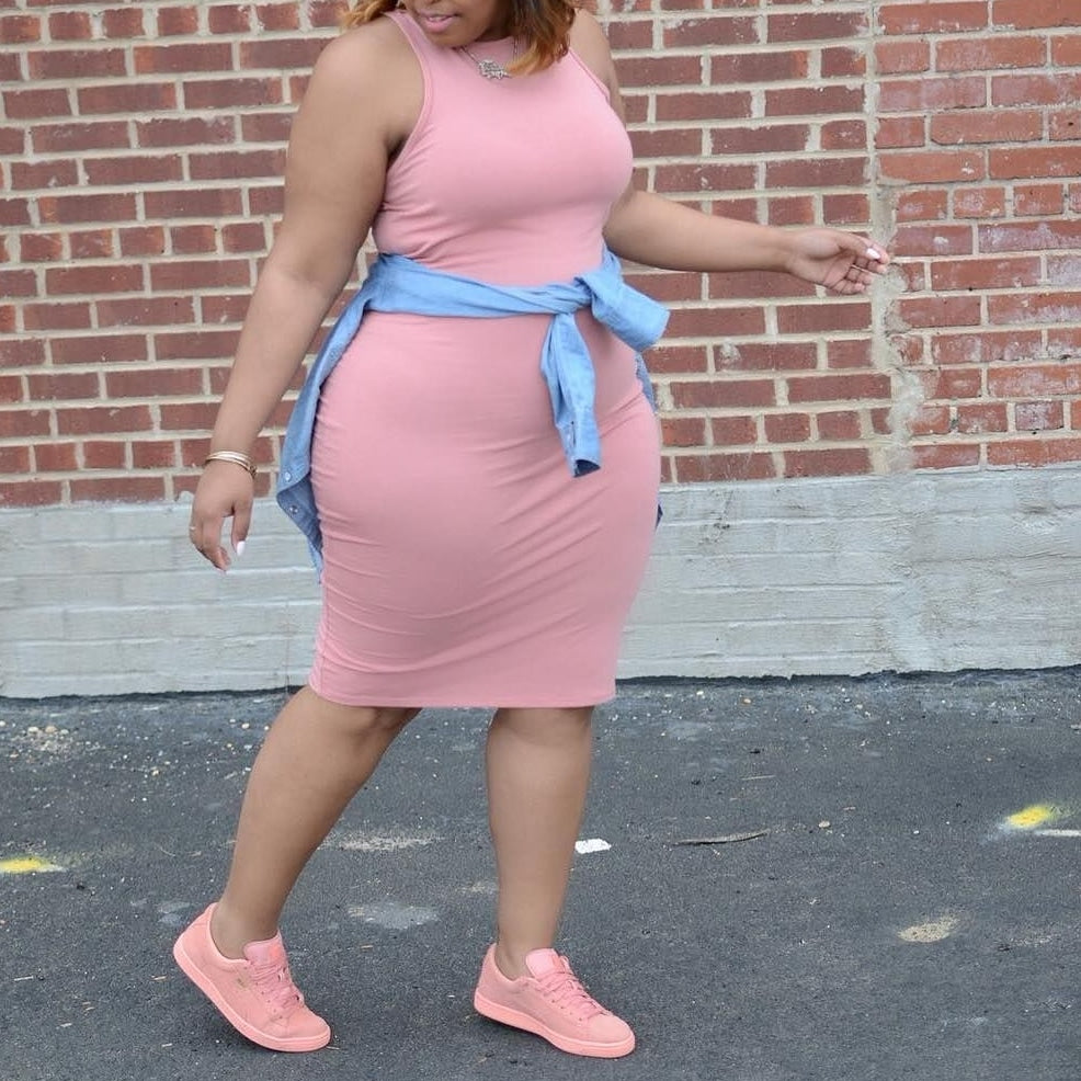 Double layered plus size bodycon