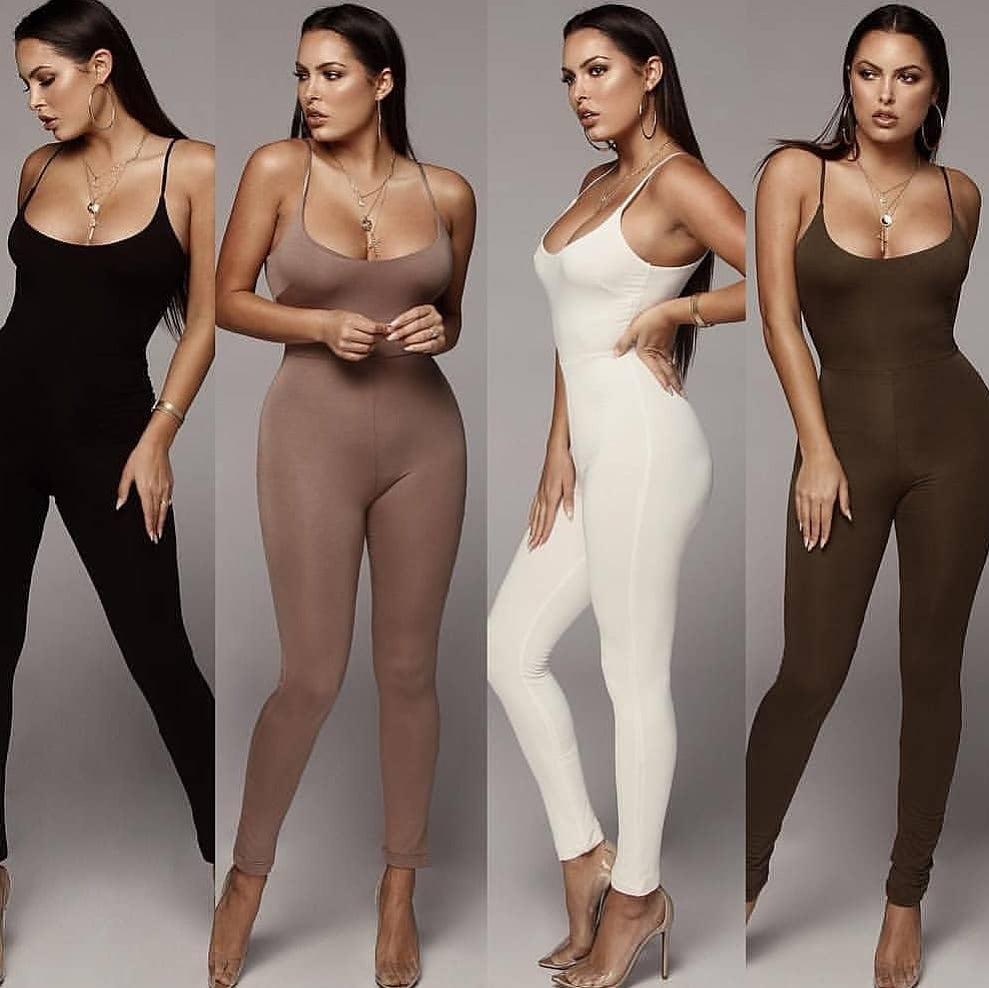 Double layered 4 jumpsuit combos