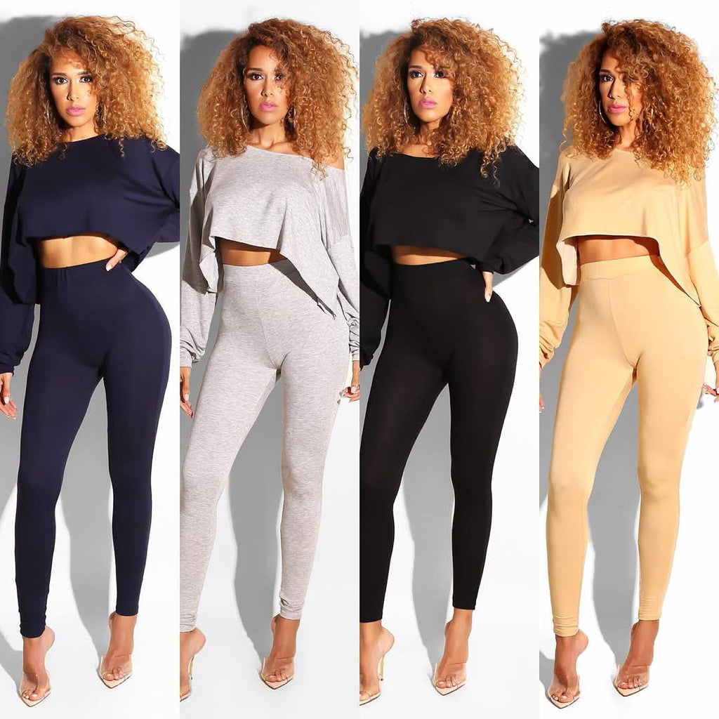 SINGLE layered leggings and top set