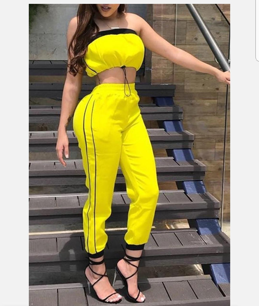 Trendy two piece summer tracksuit