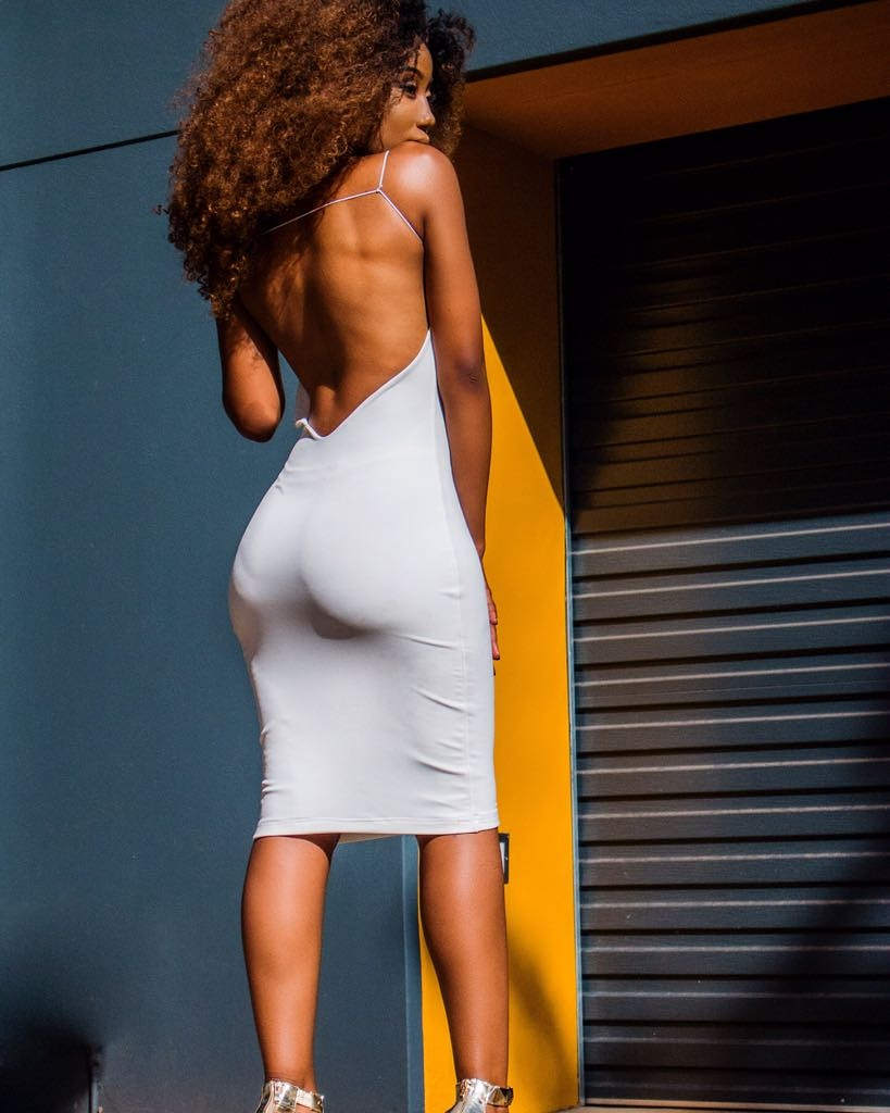 Backless double layered bodycon