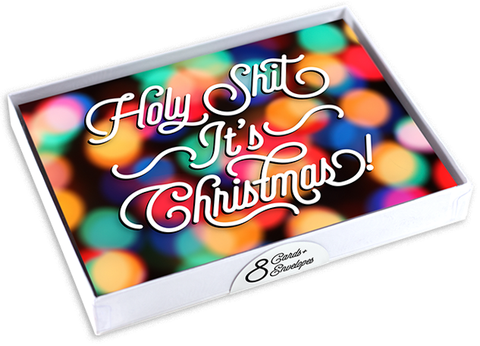 """Holy Shit, It's Christmas!"" Set of 8 Cards and Envelopes"