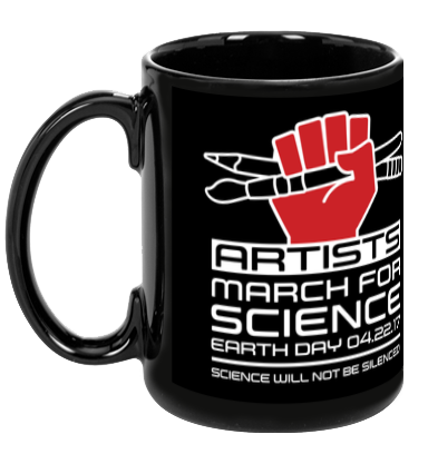 Artists March For Science - Black Mug