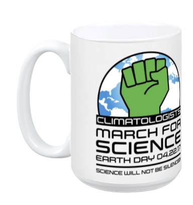 Climatologists March For Science - White Mug