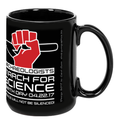 Archaeologists March For Science - Black Mug