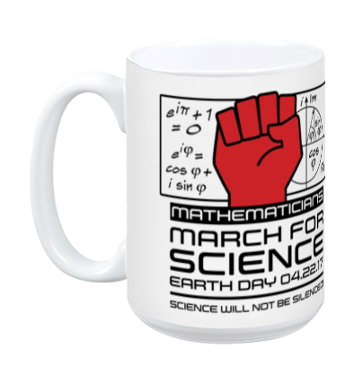 Mathematicians March For Science - White Mug