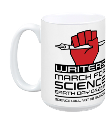 Writers March For Science - White Mug