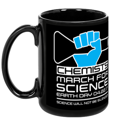 Chemists March For Science - Black Mug