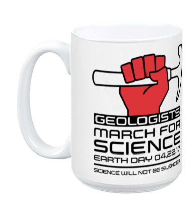 Geologists March For Science - White Mug