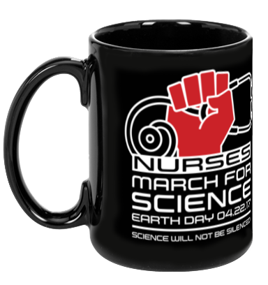 Nurses March For Science - Black Mug