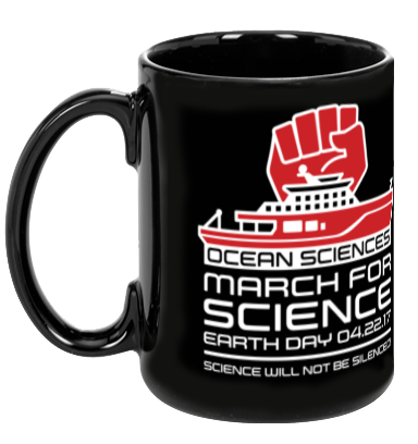 Ocean Sciences March For Science - Black Mug