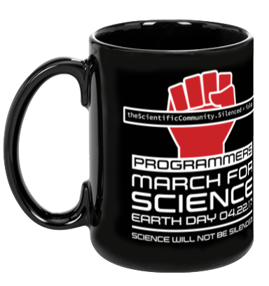 Programmers March For Science - Black Mug