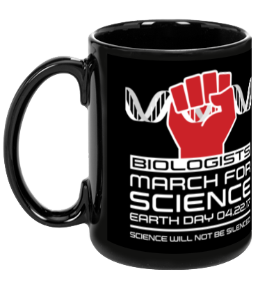 Biologists March For Science - Black Mug