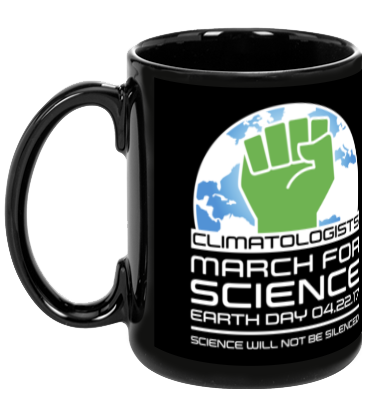 Climatologists March For Science - Black Mug
