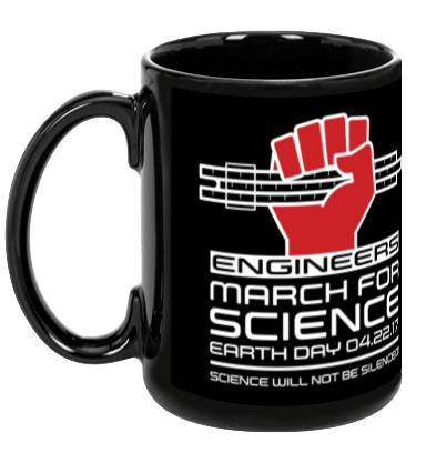 Engineers March For Science - Black Mug