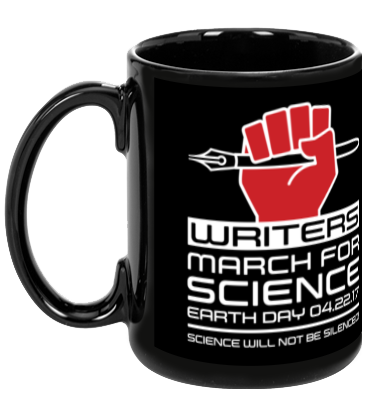 Writers March For Science - Black Mug