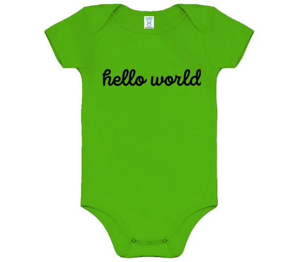 """Hello World"" Onesie"
