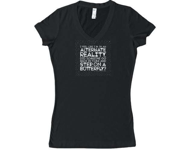 Alternate Reality — White Ink — Women's V-Neck