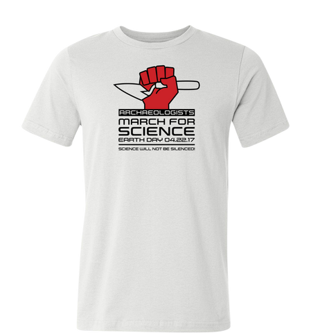 Archaeologists  March for Science T-Shirt — Light