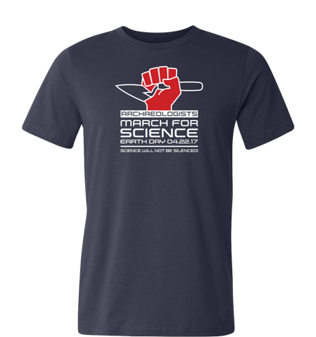 Archaeologists March for Science T-Shirt — Dark