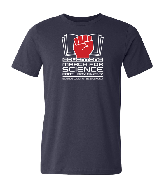 Educators March for Science T-Shirt — Dark