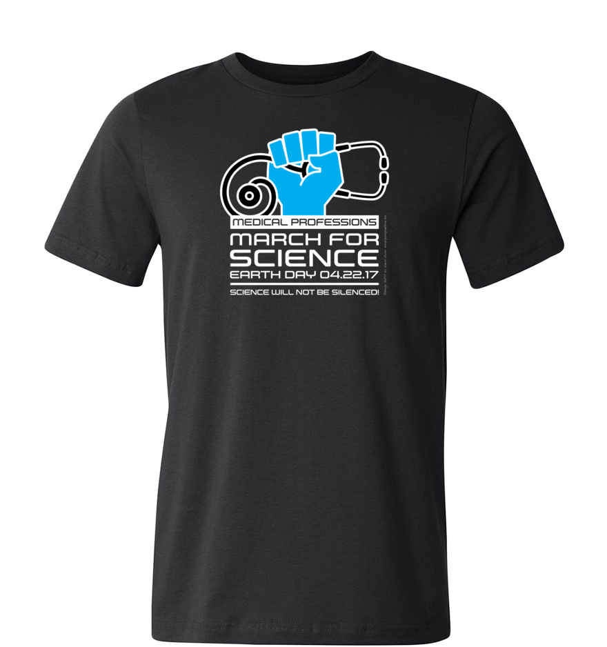 Medical March for Science T-Shirt — Dark