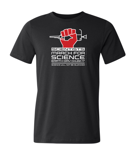 Scientists March for Science T-Shirt — Dark