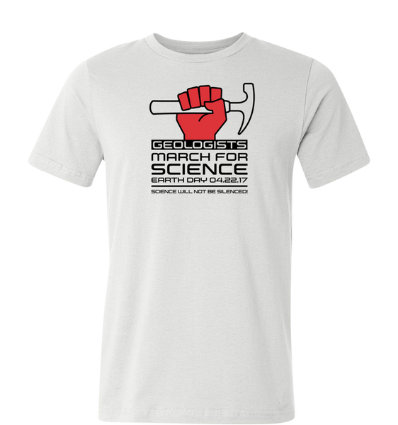 Geologists March For Science - Light T-shirt