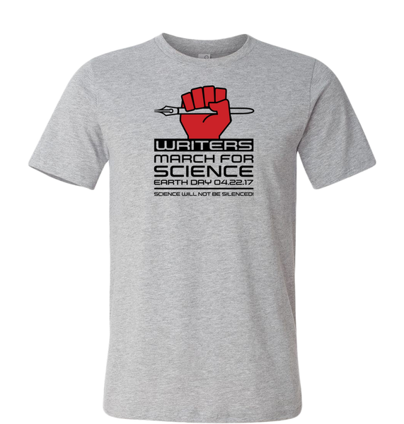 Writers March for Science T-Shirt — Light