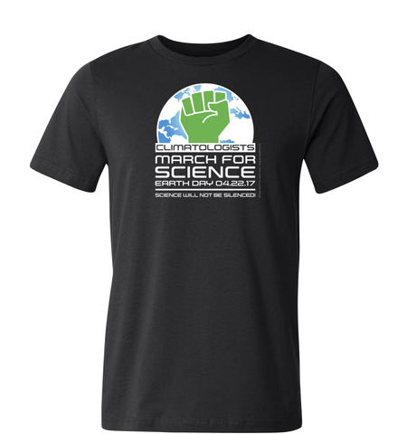 Climatologists March for Science T-Shirt — Dark