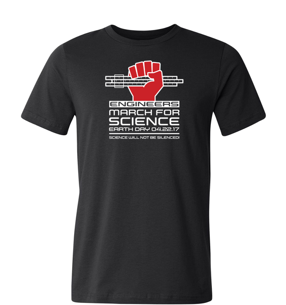 Engineers March for Science T-Shirt — Dark