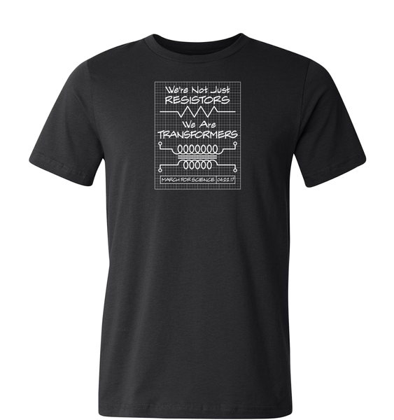 Resistors Transformers Blueprint - Adult T-Shirt