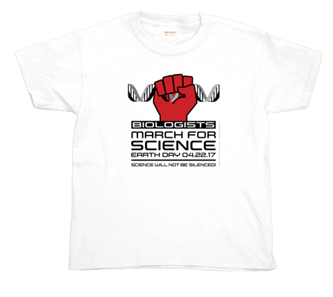 Biologists March For Science- Light Youth Tee