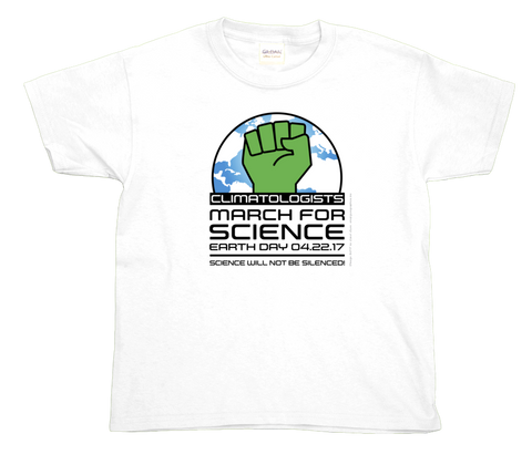 Climatologist March For Science- Light Youth Tee