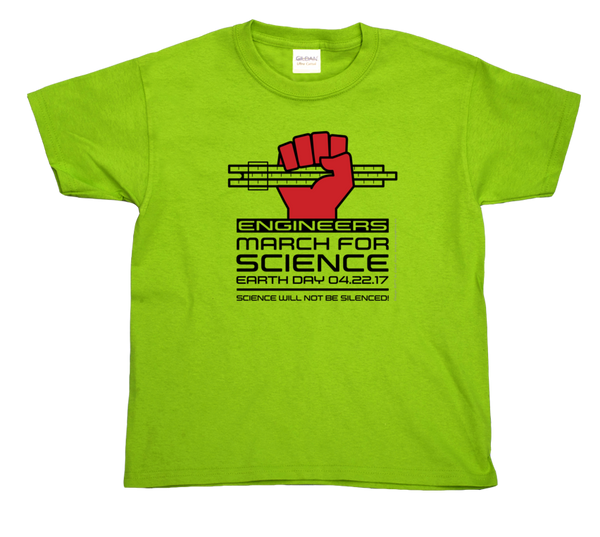 Engineers March For Science- Light Youth Tee