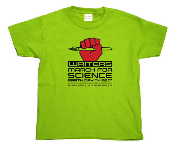 Writers March For Science- Light Youth Tee