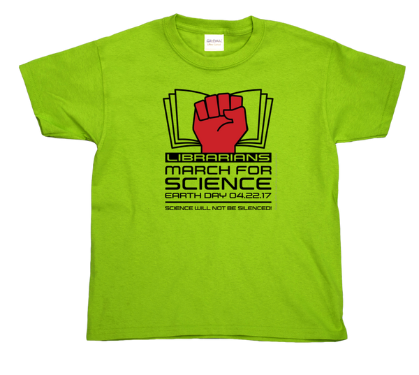 Librarians March For Science- Light Youth Tee