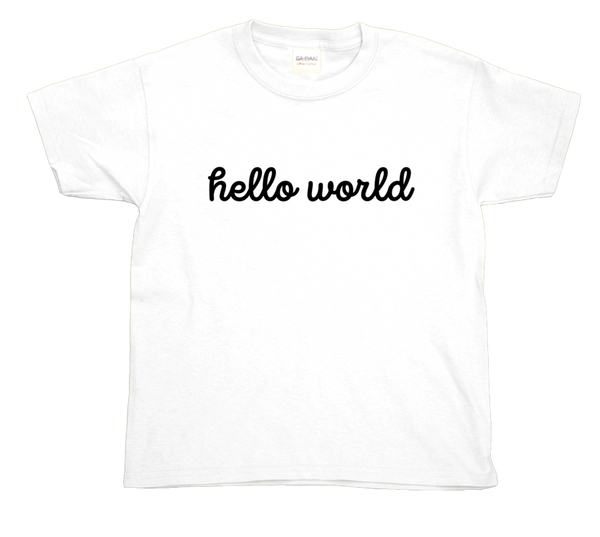 """Hello World"" Toddler T-Shirts"