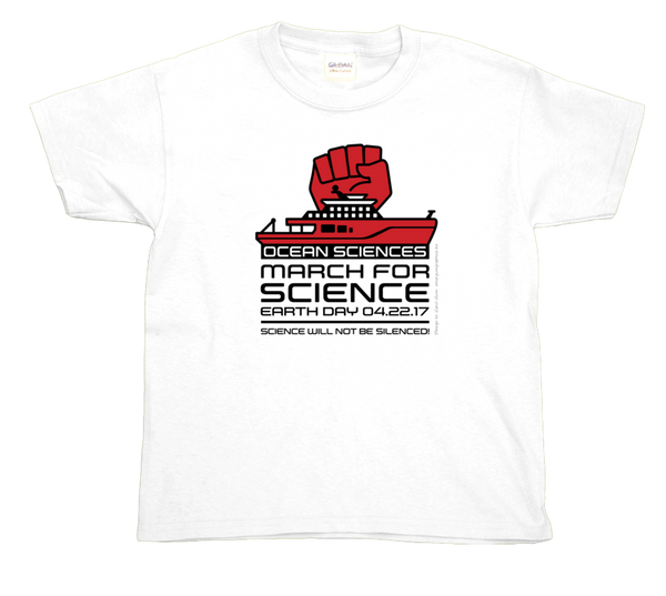 Ocean Sciences March For Science- Light Youth Tee