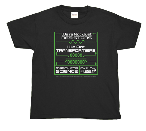 Resistors Transformers - Captions. Youth T-Shirts