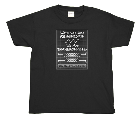 Resistors Transformers Blueprint - Youth T-Shirt