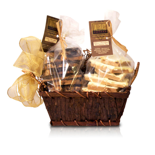 Two pound toffee gift basket